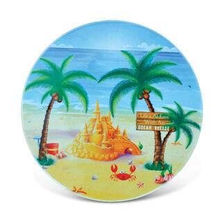 Puzzled Sand Castle Ceramic Coaster