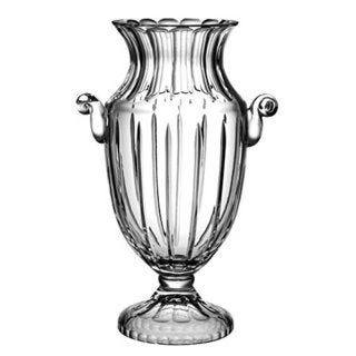 Majestic Gifts Clear Hand-cut Crystal 16-inch Footed Vase With Handles
