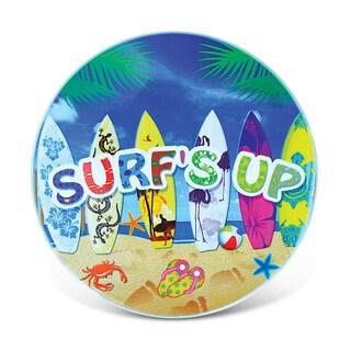 Puzzled Surf's Up Multicolor Ceramic Nautical Coaster
