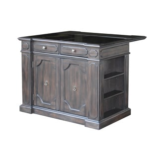 Home Styles Hacienda Granite Inset Top Kitchen Island