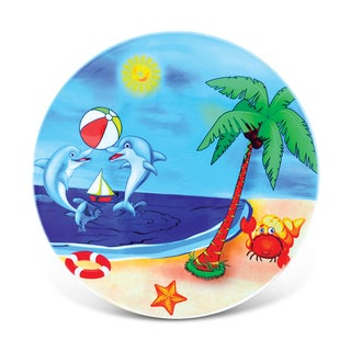 Puzzled Multicolored Ceramic Beach-themed Nautical Coaster