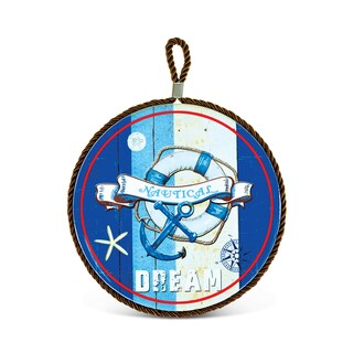 Puzzled Nautical Dream Ceramic Pot Holder