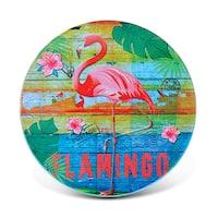 Puzzled Flamingo Ceramic Nautical Coaster