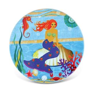 Puzzled Inc Under The Sea Mermaid Nautical Multicolor Ceramic Coaster