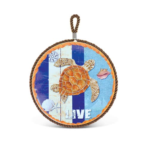Puzzled Sea Turtle Ceramic Pot Holder