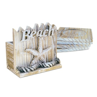 Link to Puzzled Baja Beach Starfish Nautical Wooden Coaster Pack (Set of 4) Similar Items in Glasses & Barware