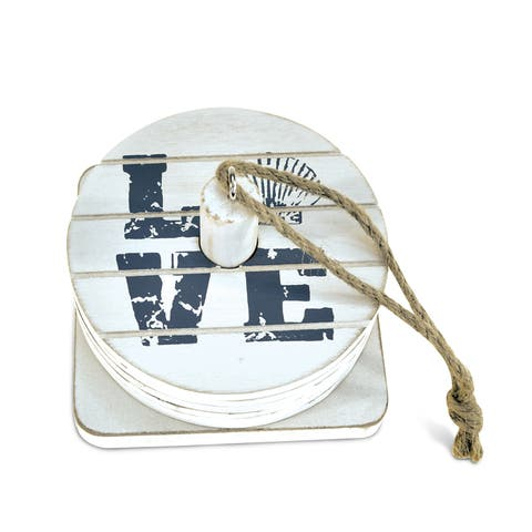 Puzzled Dream Handcrafted Wood Nautical Coaster Pack (Set of 6)