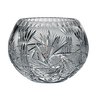 Majestic Gifts Clear Hand-cut Crystal 5-inch Rose Bowl