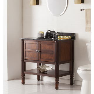 Harper Blvd Bauer Bath Vanity Sink w  Marble Top Bathroom Vanities Cabinets For Less Overstock com