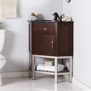 Harper Blvd Karhold Corner Bath Vanity Sink w/ Marble Top