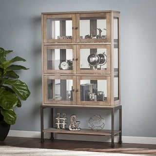 Bellstrom Lighted Contemporary Curio Display Cabinet