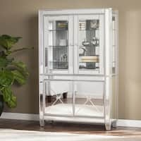 Harper Blvd Zephyr Mirrored Lighted Curio Cabinet