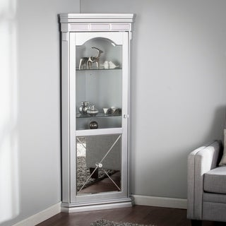 Harper Blvd Zephyr Mirrored Lighted Corner Curio Cabinet