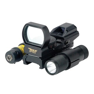 BSA Red/Green/Blue Multi Reticle Panoramic Sight with Laser/Light