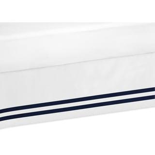 Sweet Jojo Designs Anchors Away Queen Bed Skirt - Blue/White