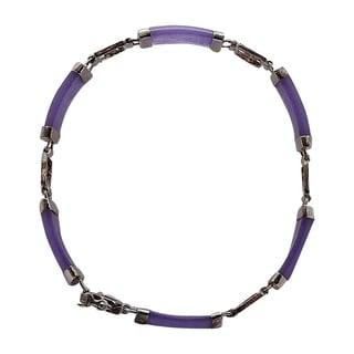 Good Fortune Silver and Lavender Jade Bracelet