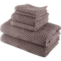 Smyrna Turkish Cotton Basket Weave 6-piece Towel Set