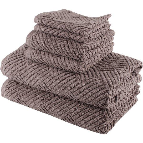 Smyrna Turkish Cotton Basket Weave 6-piece Towel Set