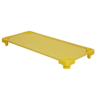 Offex Yellow Stackable Assembled Kiddie Cot (Pack of 5)