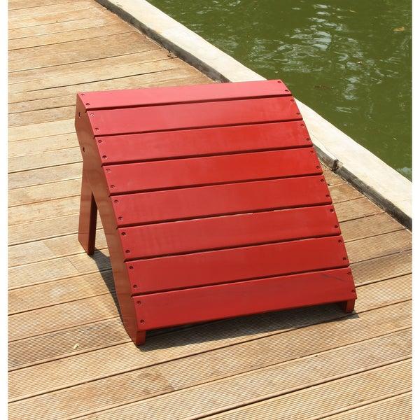 Cambridge Casual Alston Adirondack Ottoman - Red