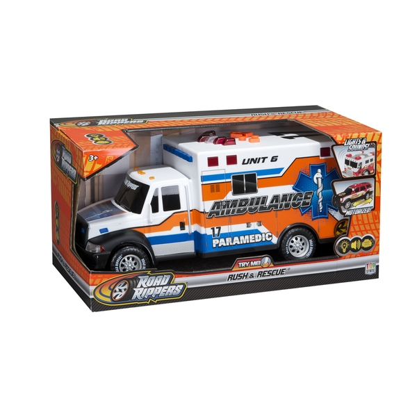 Road Rippers Multicolored Plastic 14-inch Rush and Rescue Ambulance Car Toy