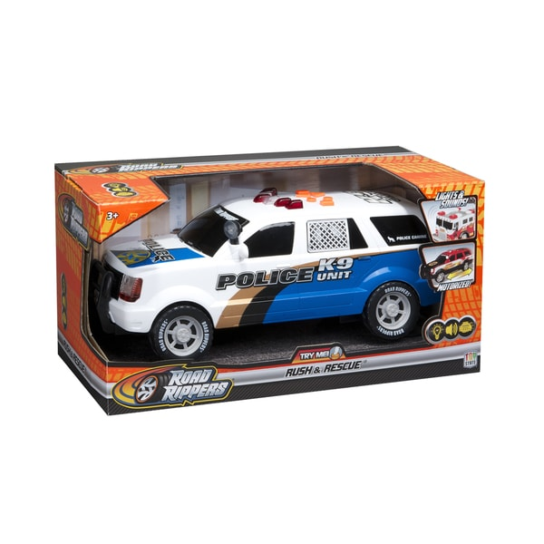 Road Rippers 14-inch Rush and Rescue Police K9 SUV Toy