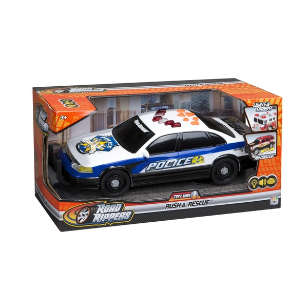 Road Rippers Rush and Rescue 14-inch Police Car