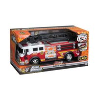 Road Rippers Multicolored Plastic 14-inch Rush and Rescue Hook and Ladder Fire Truck