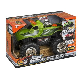 Road Rippers DinoRoar 10-inch Lights and Sound 4x4 Monster Truck