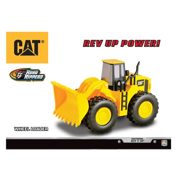 Road Rippers Caterpillar 'Rev It Up' Yellow Plastic Wheel Loader Toy
