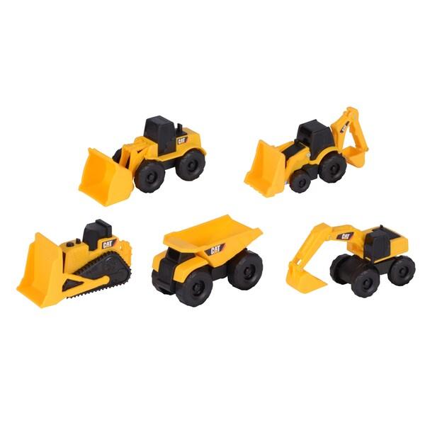 Caterpillar Plastic Mini Construction Machines (Pack of 5)