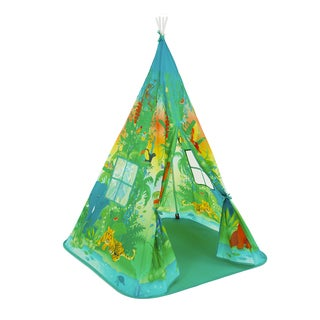 Fun2Give Girls and Boys Pop-it-up Teepee Multicolor Polyester Jungle Play Tent