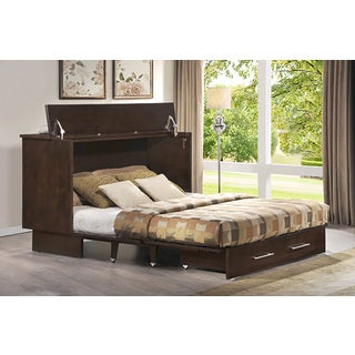 Preston Mocha Cabinet Bed with Mattress