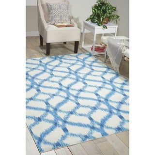 Waverly Sun and Shade Aegean Indoor/ Outdoor Rug by Nourison (5'3 x 5'3)