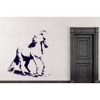 Horse Mustang Decal Wild Animals Decor Wall Decal Art Vinyl Sticker Deckal size 44x52 Color Black
