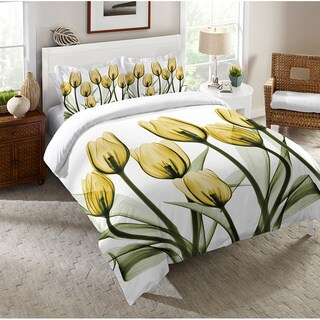 Laural Home X-Ray Gold Tulip Bouquet Standard Sham