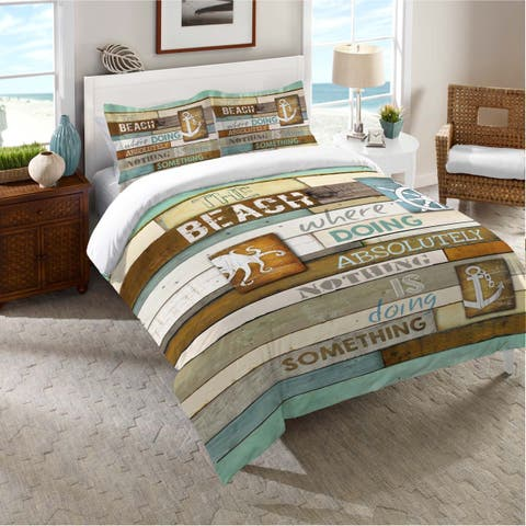 Laural Home Beach Words Standard Pillow Sham