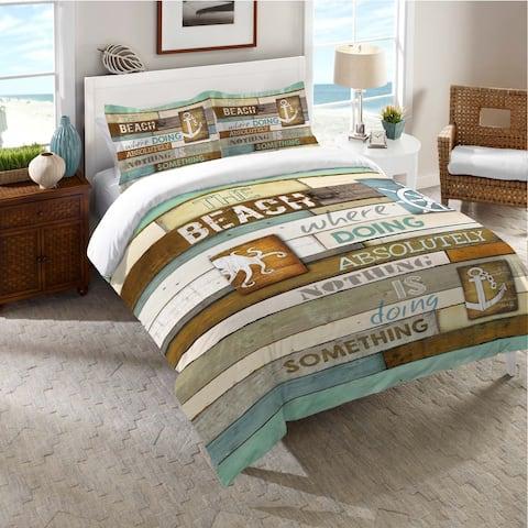 Laural Home Beach Words Standard Pillow Sham