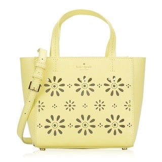 Kate Spade New York Faye Drive Small Hallie Perforated Leather Lemonade Crossbody Handbag