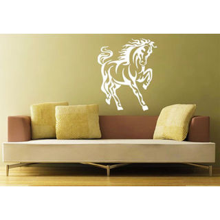 Horse Mustang Head Zoo Animals Decor Wall Decal Art Vinyl Sticker Decal size 33x39 Color Black