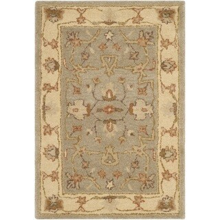 Safavieh Antiquity Traditional Handmade Light Grey/ Beige Wool Rug (2' x 3')