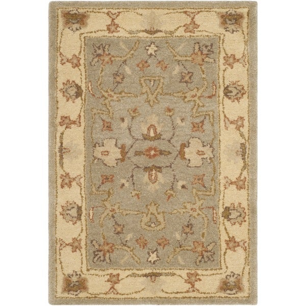 Safavieh Antiquity Traditional Handmade Light Grey/ Beige Wool Rug - 2' x 3'