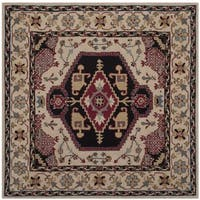 Safavieh Bellagio Handmade Bohemian Beige/ Black Wool Rug - 5' Square