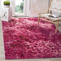 Safavieh Monaco Abstract Watercolor Fuchsia Distressed Rug - 6' 7 Square