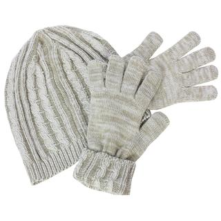 Isotoner Women's Knit Gloves and Cable Knit Hat Gift Boxed Set