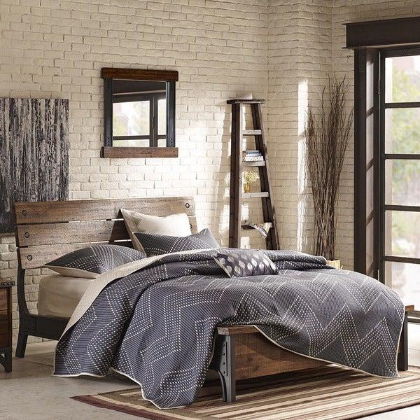 Carbon Loft Saknussemm Amber and Graphite King Bed