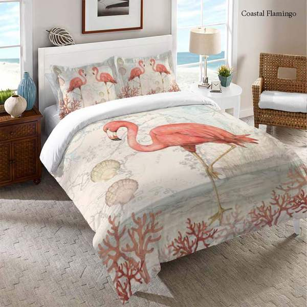 Laural Home Flamingo Comforter. Opens flyout.