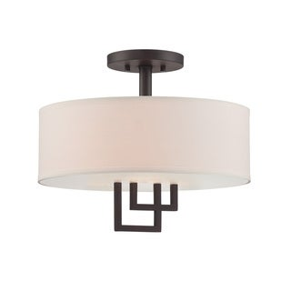 Lite Source 2-Light Adalyn Semi-Flush Mount