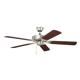 Kichler Lighting Basics Collection 52-inch Brushed Nickel Ceiling Fan