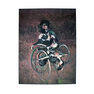Francis Bacon 'Georges a Bicyclette - 1995' Art Poster, 35.5 x 25.5 inches